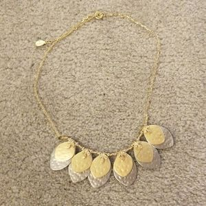 Loft hammer silver and gold necklace